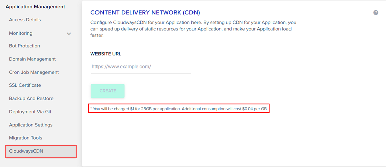 cloudways cdn overview pricing